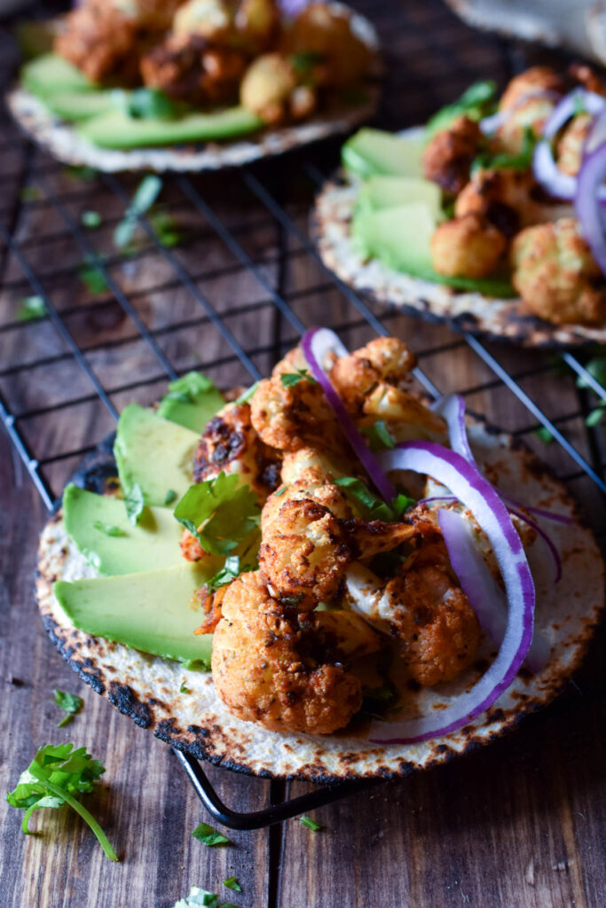 Chipotle Roasted Cauliflower Tacos Avi Pie